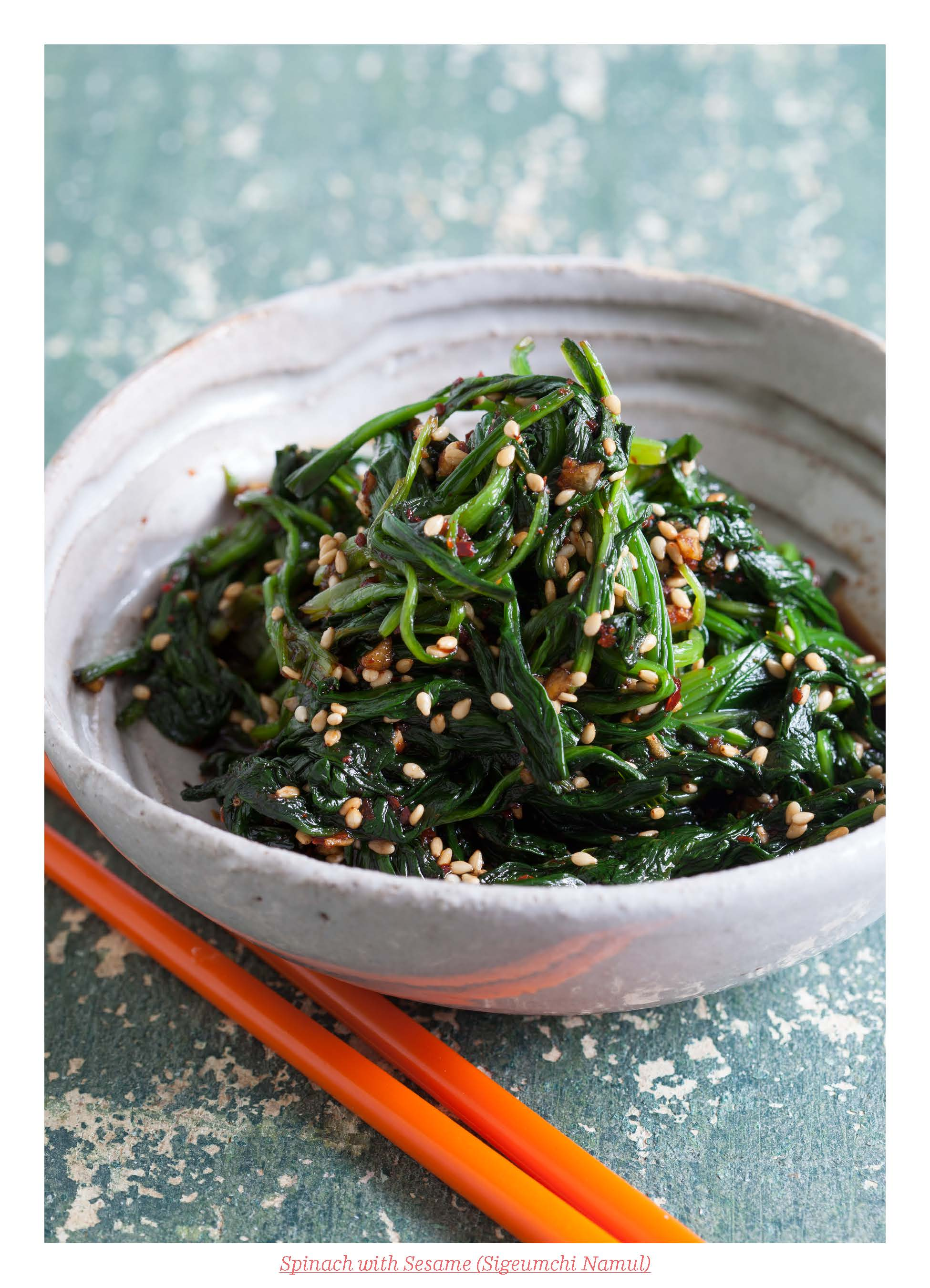 Korean Spinach with Sesame Banchan Recipe from Asian Pickles Korea