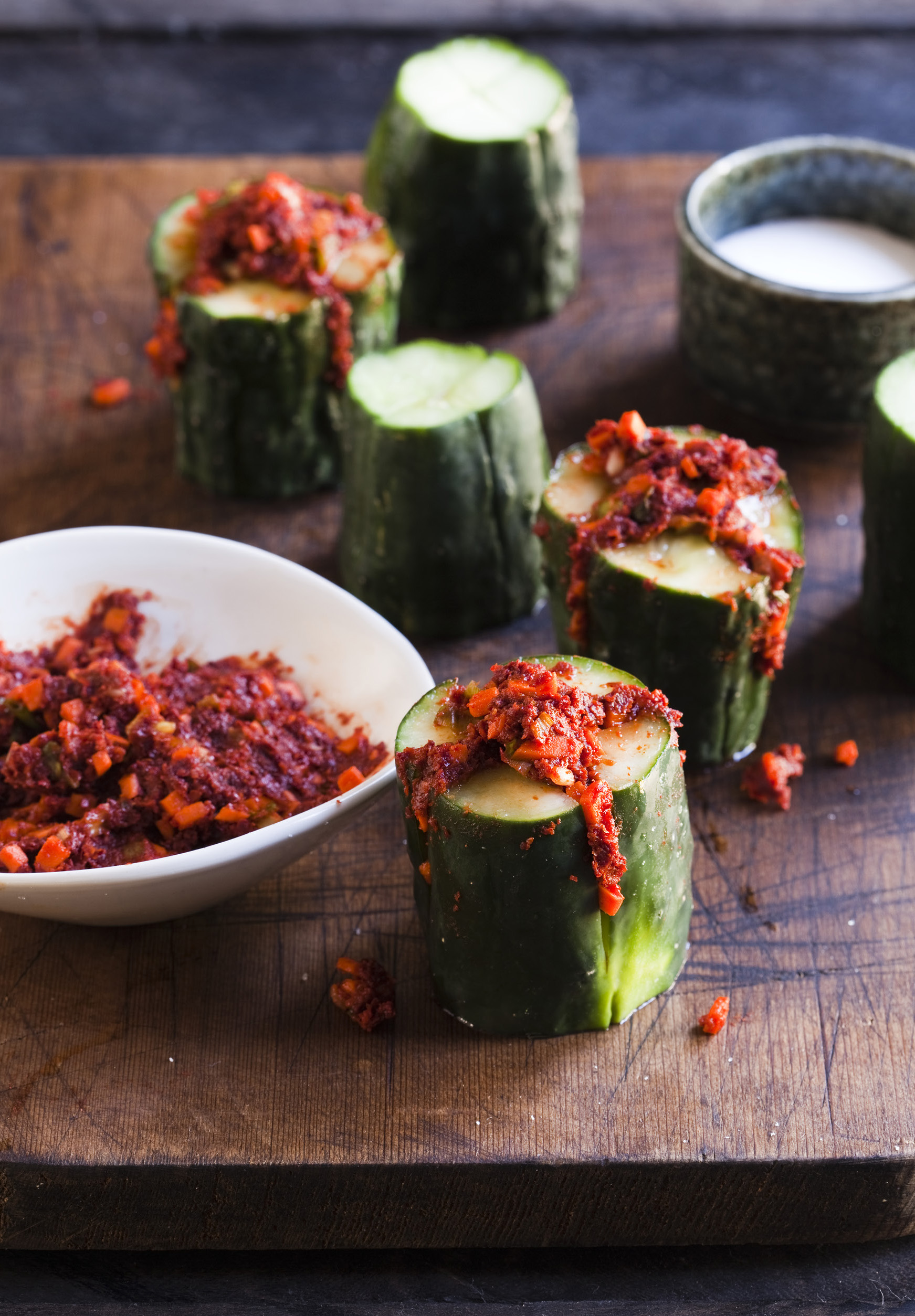 Stuffed Cucumber Kimchi from Asian Pickles Korea