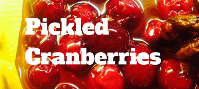 Pickled Cranberries Recipe